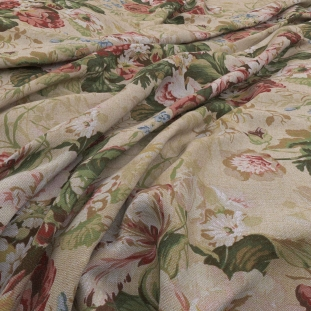 Archive Linen - Bibury Tapestry Fabric by Warwick (Archive Linen-Bibury Tapestry)