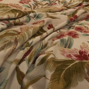 Archive Linen - Bird & Blossom Antique Fabric by Warwick (Archive Linen-Bird & Blossom Antique)