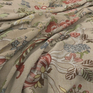 Archive Linen - Braemore Chintz Fabric by Warwick (Archive Linen-Braemore Chintz)