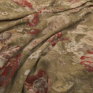 Archive Linen - Bramante Sienna Fabric by Warwick (Archive Linen-Bramante Sienna)