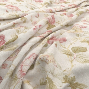 Archive Linen - Chantilly Cameo Fabric by Warwick (Archive Linen-Chantilly Cameo)