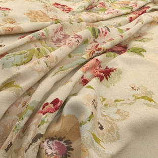 Archive Linen - Fairfield Chintz Fabric by Warwick (Archive Linen-Fairfield Chintz)