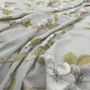 Archive Linen - Fleurie Duck Egg Fabric by Warwick (Archive Linen-Fleurie Duck Egg)