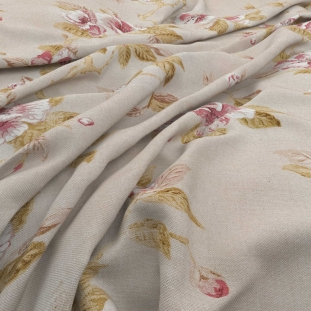 Archive Linen - Fleurie Mushroom Fabric by Warwick (Archive Linen-Fleurie Mushroom)