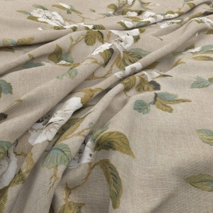 Archive Linen - Fleurie Taupe Fabric by Warwick (Archive Linen-Fleurie Taupe)
