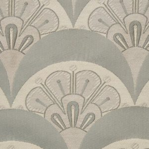 Deco Scallop Multi Jacquard - Pewter Fabric by Liberty