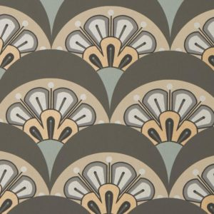 Deco Scallop - Pewter Wallpaper by Liberty (5059419796603)