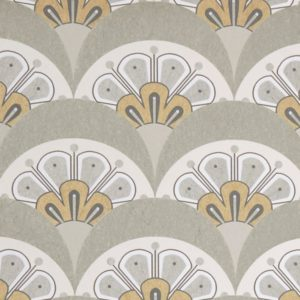 Deco Scallop - Pewter White Wallpaper by Liberty (5059419796610)
