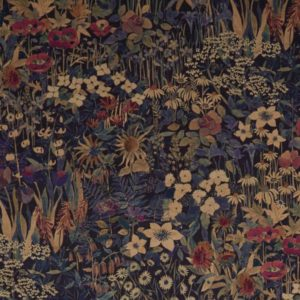 Faria Flowers Blackberry Fabric by Liberty
