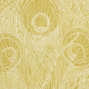 Hebe Marlowe Linen - Lichen Chartreuse Fabric by Liberty