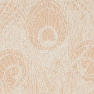 Hebe Marlowe Linen - Pewter Plaster Pink Fabric by Liberty