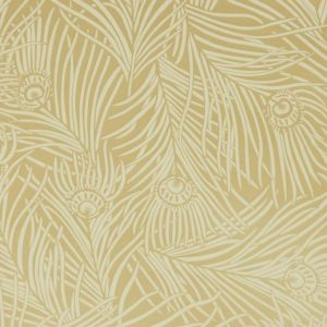 Hera Plume - Pewter Gold Wallpaper by Liberty (5059419796658)