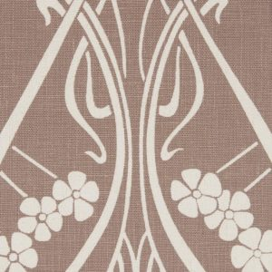 Ianthe Bloom Stencil Chiltern Linen - Lacquer Fabric by Liberty