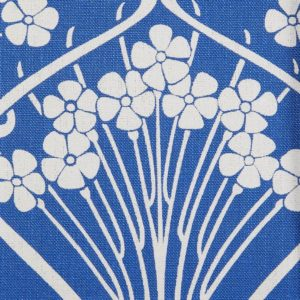 Ianthe Bloom Stencil Chiltern Linen - Lapis Fabric by Liberty