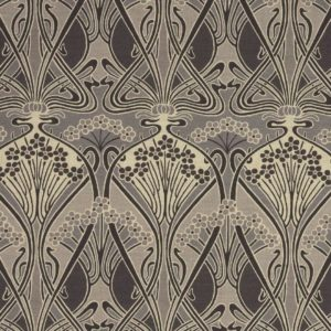Ianthe Flower Graphite Fabric by Liberty