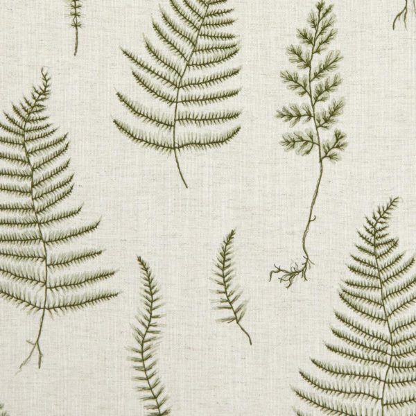 Lorelle - Natural/Forest Fabric by Clarke & Clarke (F1092/03)