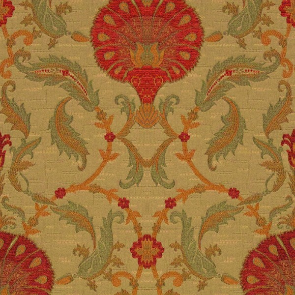 Ottoman - Apple Red Fabric by Jim Dickens (Ottoman-Apple Red)