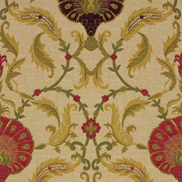 Ottoman - Cranberry Fabric by Jim Dickens (Ottoman-Cranberry)