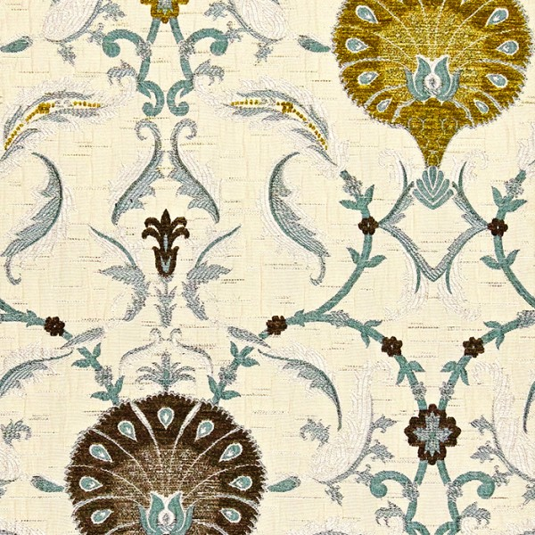 Ottoman - Olive Fabric by Jim Dickens (Ottoman-Olive)