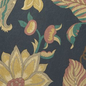Palampore Trail - Pewter Blue Wallpaper by Liberty (5059419796948)
