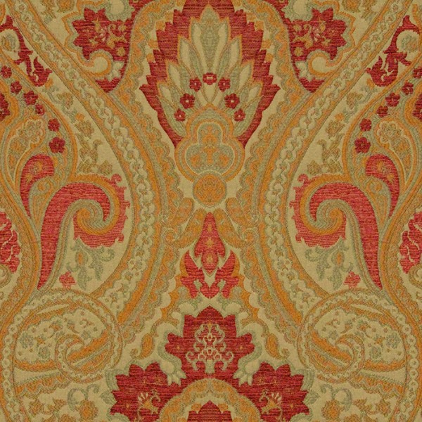 Persia - Apple Red Fabric by Jim Dickens (Persia-Apple Red)