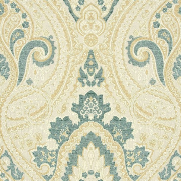 Persia - China Blue Fabric by Jim Dickens (Persia-China Blue)