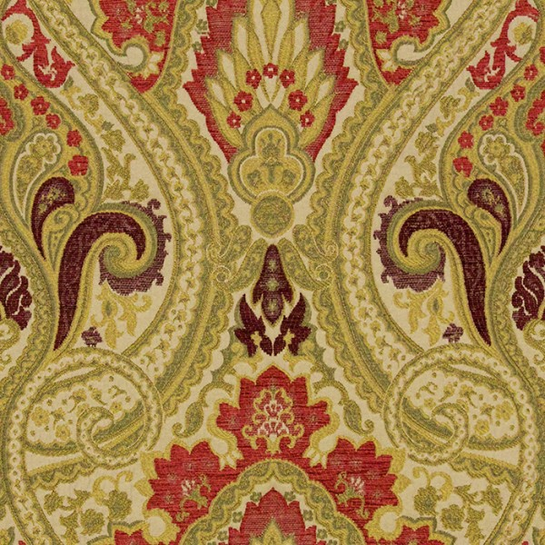 Persia - Cranberry Fabric by Jim Dickens (Persia-Cranberry)