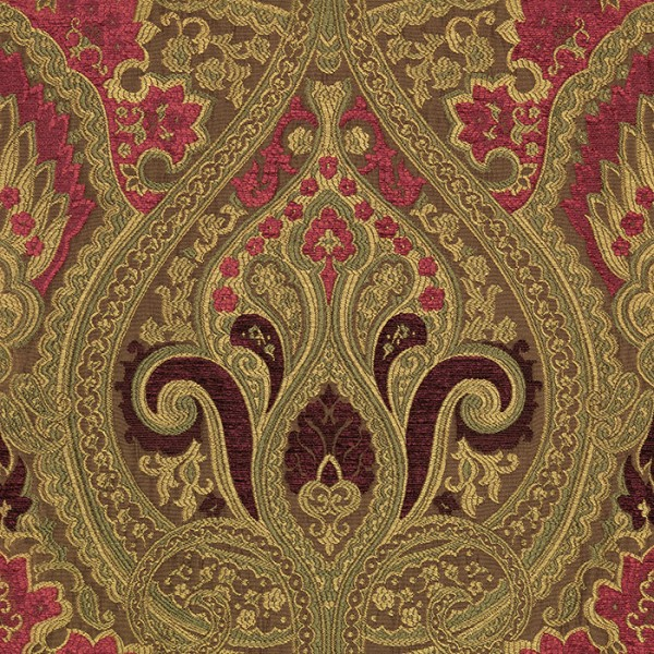 Persia - Wild Berry Fabric by Jim Dickens (Persia-Wild Berry)