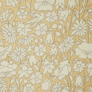 Poppy Meadow - Pewter Gold Wallpaper by Liberty (5059419796511)