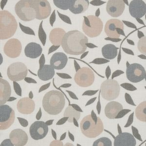 Wiltshire Blossom Landsdowne Linen - Pewter Fabric by Liberty