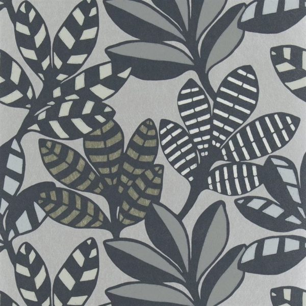 Tanjore Graphite Wallpaper by Designers Guild (PDG1129/01)